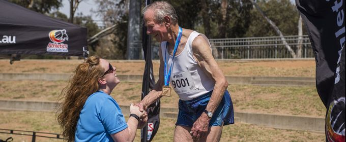 Ninety Year Old Track and Field Athlete Wins Third Gold in Adelaide.